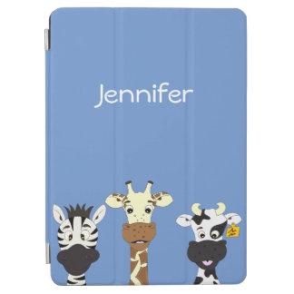 Roliga ungar för tecknad för sebragiraffko iPad air skydd