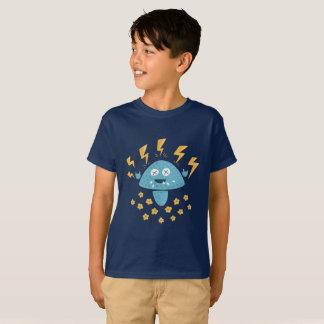 Roliga ungar för tecknadheavy metalchampinjon tee shirt
