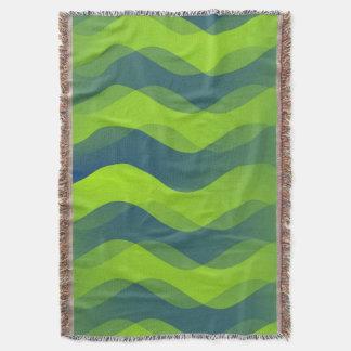 Roliga vågargröntblått + din idé filt