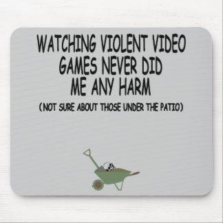 Roliga våldsamma videospel musmattor