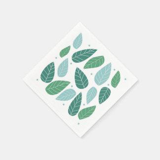 Roliga vårlöv papper servetter