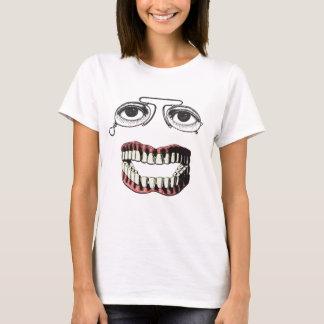 Roliga vintageanblickar och tandproteser tee shirts