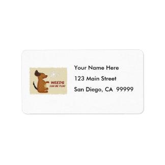 Roliga vovvemaskrosogräs adressetikett