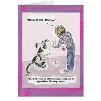 Roligt 50th kort för födelsedagtecknadhälsning hälsningskort