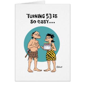 Roligt 53rd födelsedaghälsningkort hälsningskort