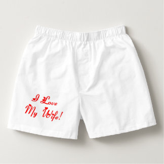 Roligt älskar jag min fru boxers