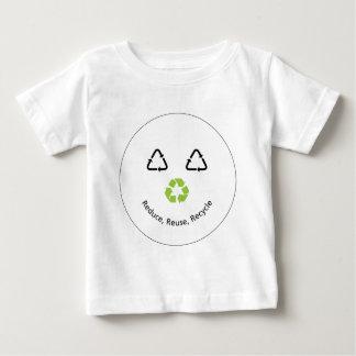 Roligt ansikte för återvinna tee shirts