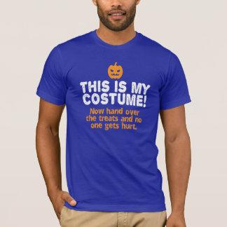 Roligt är denna min dräkt Halloween på mörk T Shirt