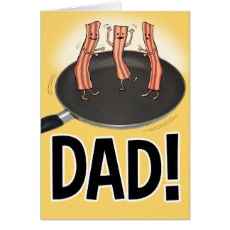 Roligt baconfars dagkort hälsningskort