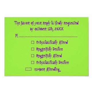 Roligt beställnings- kort för inbjudan för