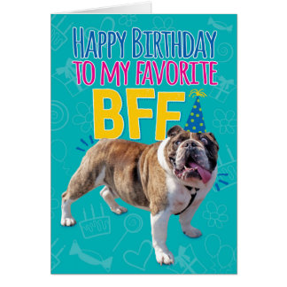 Roligt BFF-födelsedagkort till att rapa som fiser Hälsningskort