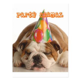 Roligt bulldoggGåva-Party djur sova bulldogg Vykort