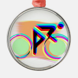Roligt cykla! julgransprydnad metall