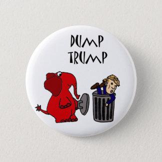 Roligt dumpa politisk tecknadkonst för trumf standard knapp rund 5.7 cm
