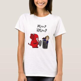 Roligt dumpa politisk tecknadkonst för trumf tee shirt
