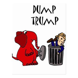 Roligt dumpa politisk tecknadkonst för trumf vykort