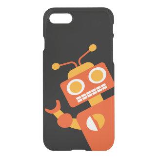 Roligt enfaldigt modernt Geeky för orange & för iPhone 7 Skal