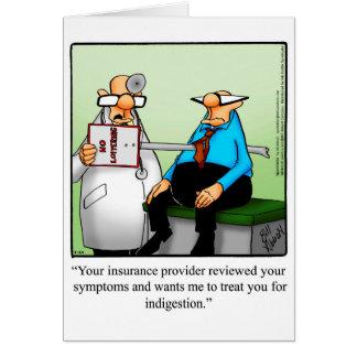 Roligt få det väl humorhälsningkortet hälsningskort