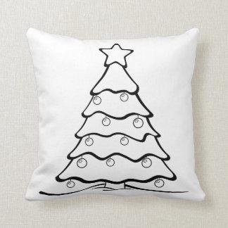 Roligt färga mig den sluga julgranen kudde
