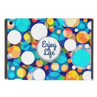 Roligt färgrikt pricker mönster (ungar, firanden) iPad mini skydd