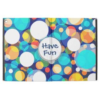 """Roligt färgrikt pricker mönster (ungar, firanden) iPad pro 12.9"""" skal"""