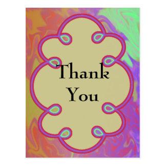 Roligt färgrikt tack vykort