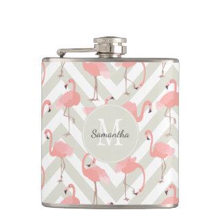 Roligt Flamingomönster med monogramen Fickplunta