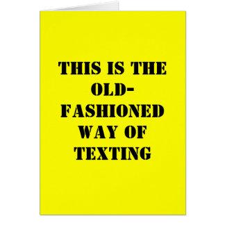 Roligt födelsedagkort - gammalmodiga Texting Hälsningskort