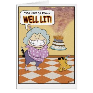 Roligt födelsedagkort: Tänd brunn Hälsningskort