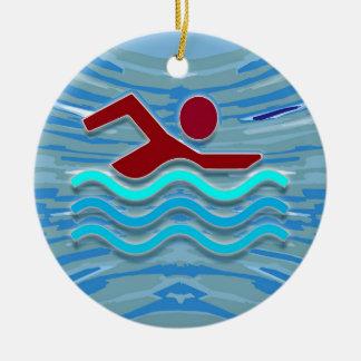 ROLIGT för bassäng för hjärta för Julgransprydnad Keramik
