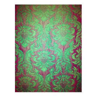 Roligt för textil för stil för nouveau för vintage vykort