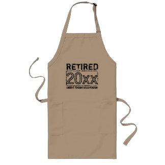 Roligt förkläde för pensionpartyBBQ för