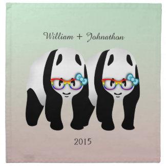 Roligt glatt gifta sig för Pandasbjörn Tygservett
