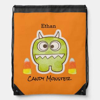 Roligt Halloween monster, candy cornbus eller Gympapåse