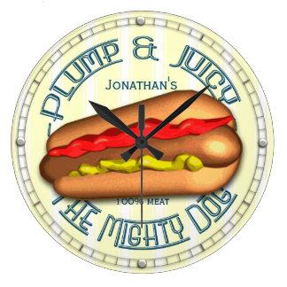 Roligt Hotdogpersonligkök tar tid på Stor Klocka