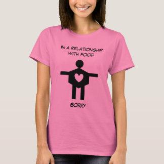 Roligt i ett förhållande med matkvinna T-Sh. T Shirts