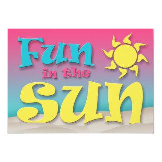 Roligt i solen - strandpartyinbjudningar 12,7 x 17,8 cm inbjudningskort
