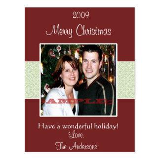 Roligt julfotokort vykort
