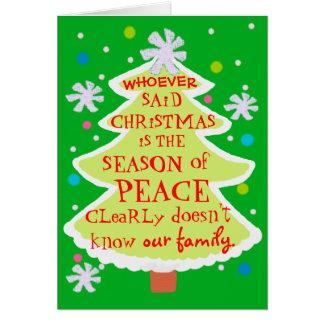 Roligt julgrankort hälsningskort