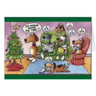 Roligt julhundkort hälsningskort