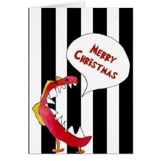 Roligt julkort som skapas från att teckna för unga