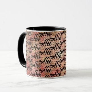 Roligt kaffe All över ordmönsterdesign