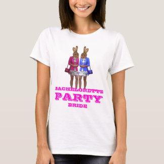 Roligt kaninflickaBachelorette party T Shirt