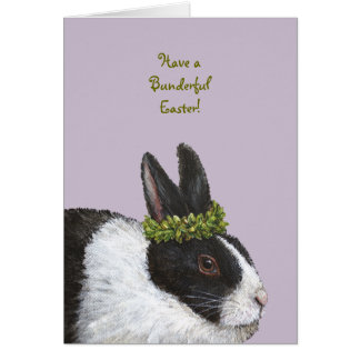 Roligt kaninpåskkort hälsningskort