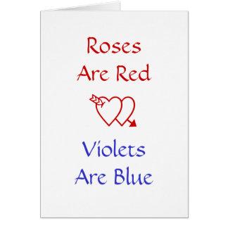 Roligt kärlekstudentenkort Ro är röda