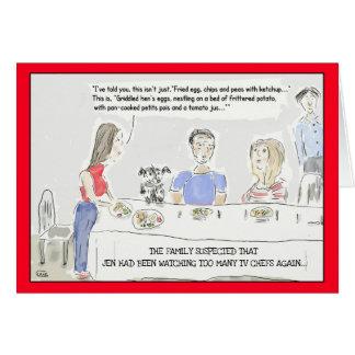 Roligt kort för hälsning för hälsningskort