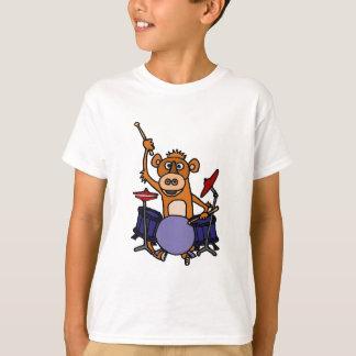 Roligt leka för apa trummar tee shirts