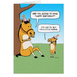 Roligt lite hästfödelsedagkort hälsningskort