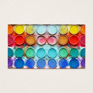 Roligt målar färg boxas visitkort