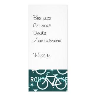 Roligt mönster för cyklist för cykelruttFixie Reklamkort